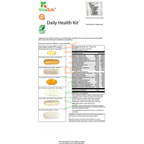 Daily Health Kit (30 counts) Vitalbulk