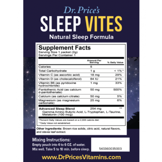 Sleep Vites Sample (Dr. Price) by Vitanord.eu