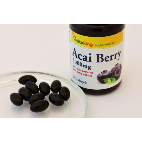 Acai Berry 20: 1 Extract 3000 mg (60 Softgels) (Vitaking) by Vitanord.eu