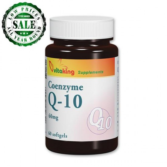 Coenzyme q10 - 60 mg (60 softgels) (Vitaking) by Vitanord.eu