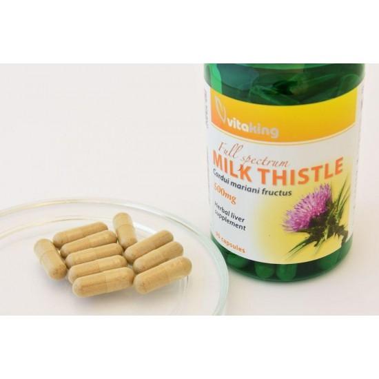 Milk Thistle Extract 500 mg (90 capsules) (Vitaking) by Vitanord.eu