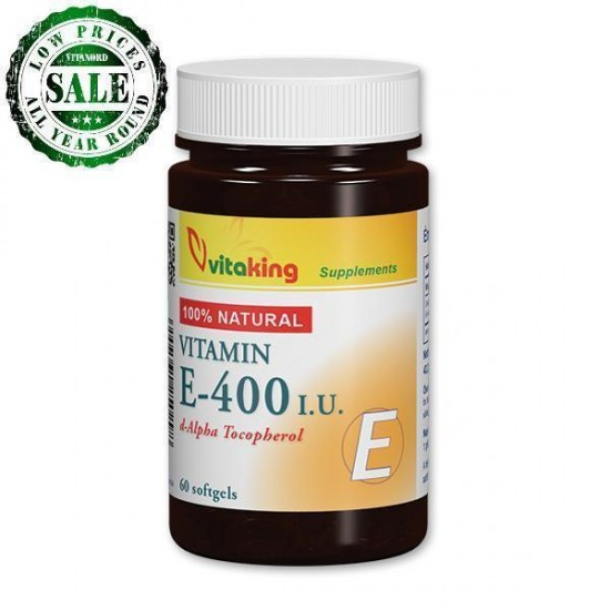 Natural Vitamin E 400IU (60 capsules)