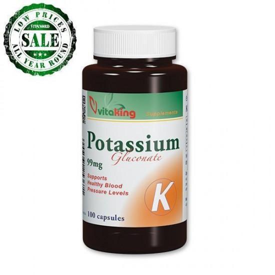 Potassium 99mg (100 capsules) (Vitaking) by Vitanord.eu